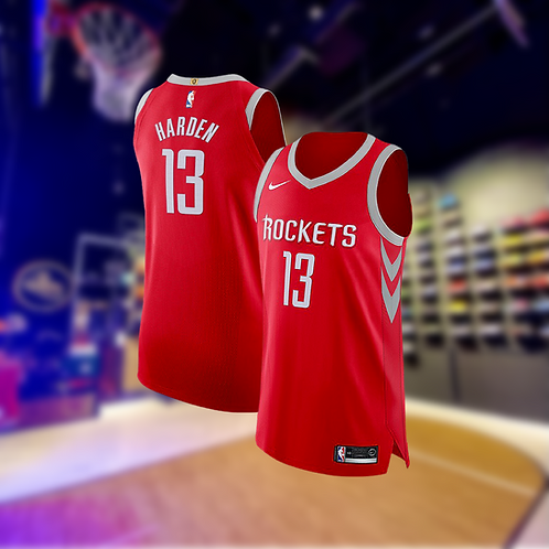 Nike NBA Rockets Icon Edition James Harden Authentic Jersey