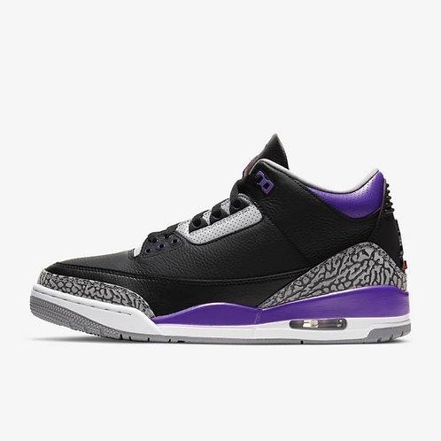"""Air Jordan 3 Retro """"Black Court Purple"""""""