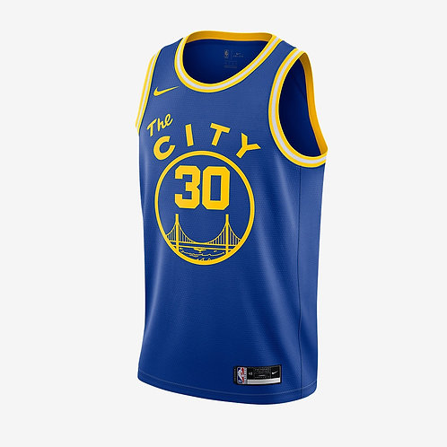 Nike NBA Warriors 19-20 Classic Edition Stephen Curry Swingman Jersey
