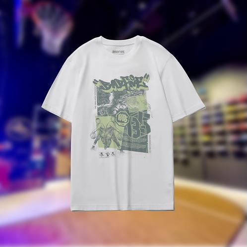 LiNing BADFIVE Basketball Cotton T-Shirt White