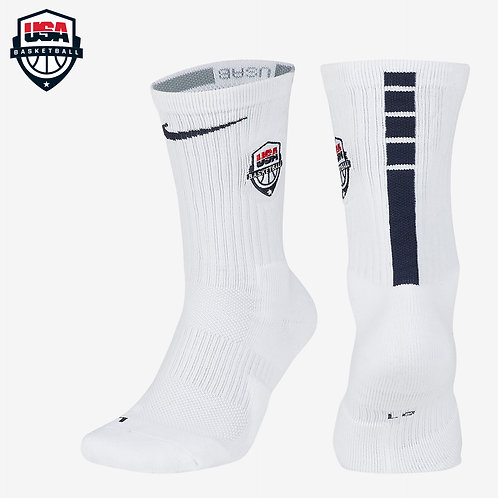 Nike Elite Crew Socks Team USA (White)