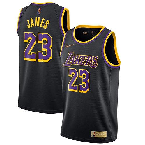 Nike NBA Lakers Earned Edition LeBron James Swingman Jersey