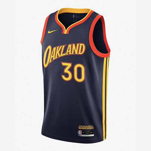 Nike NBA Warriors 19-20 City Edition Stephen Curry Swingman Jersey