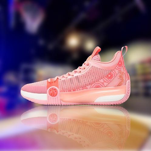 361 Degrees Zen 3 Pink/White Aaron Gordon basketball shoes