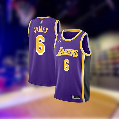 Jordan NBA Lakers Statement Edition LeBron James #6 Swingman Jersey