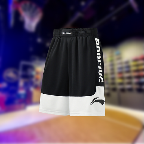 LiNing BADFIVE Basketball Shorts Black/White