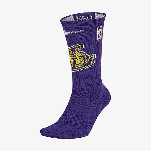 Nike Los Angeles Lakers Nike Elite NBA Crew Socks