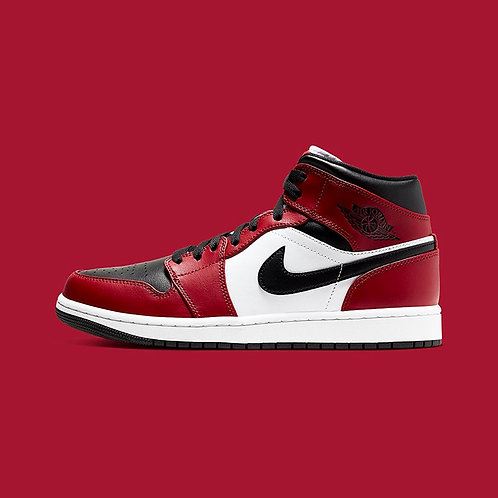 "Air Jordan 1 Mid GS ""Chicago Black Toe"""