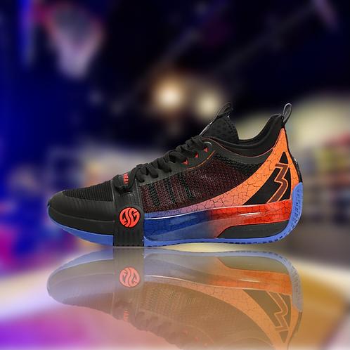 361 Degrees Zen 3 Black/Orange Aaron Gordon basketball shoes