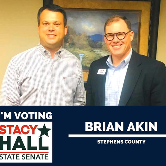 STEPHENS COUNTY - Thank you Brian Akin for your endorsement and support.