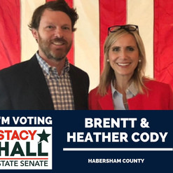 Habersham - Wonderful to be endorsed and supported by Brentt & Heather Cody.