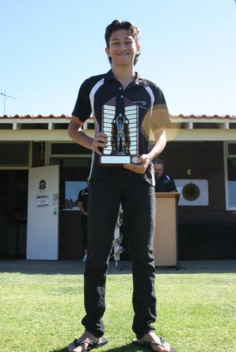 Junior Raider Award recipient Dylan Pescud