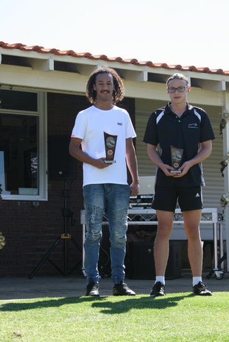 Year 11/12 Fairest & Best Kyron Eales and Runner Up Sam Preece