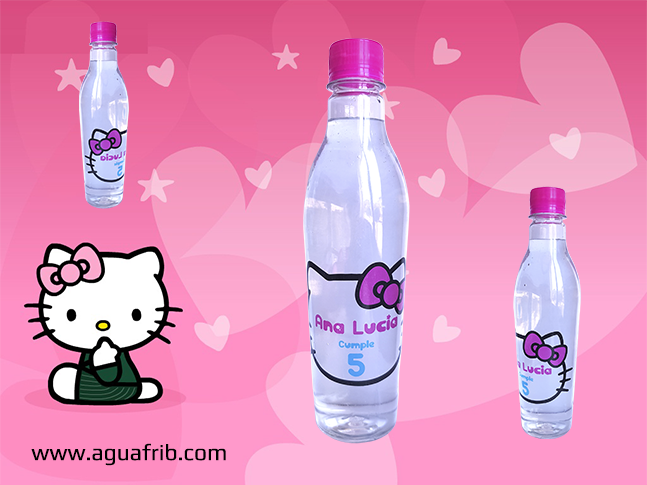 Agua Personalizada Hello Kitty
