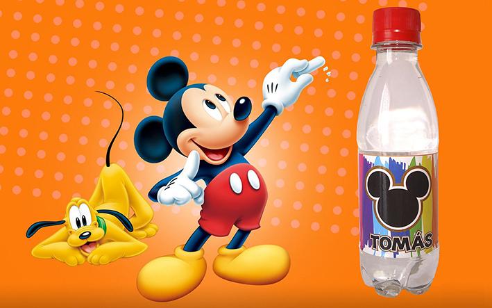 Agua Personalizada Mickey Mouse