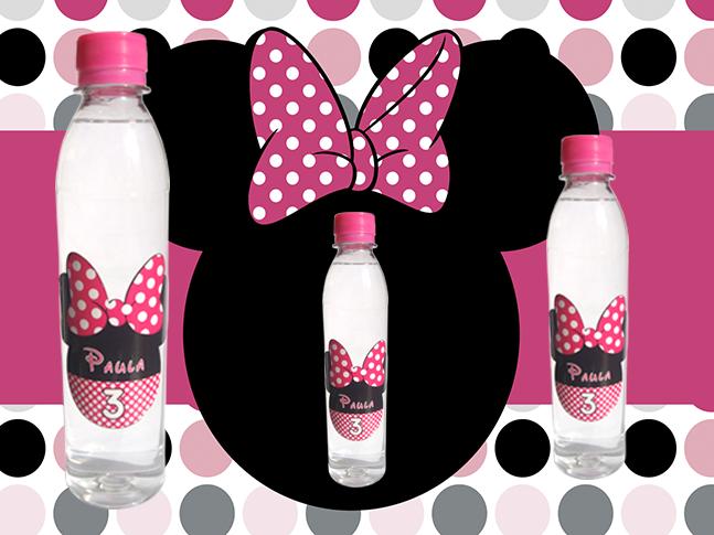 Agua Personalizada Minnie