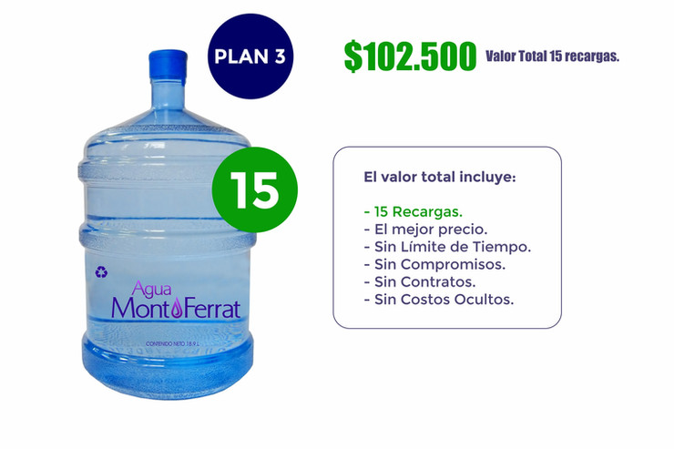 Agua MontFerrat Plan 3 (Hogares)