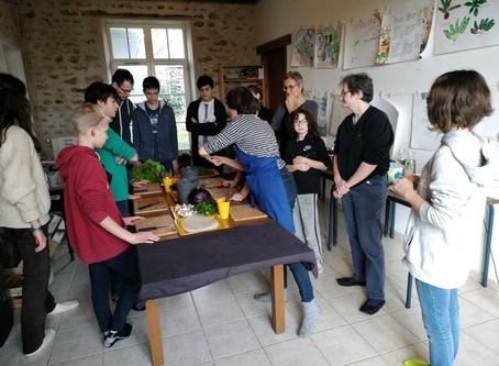 Atelier Crusine végétarienne avec les collégiens