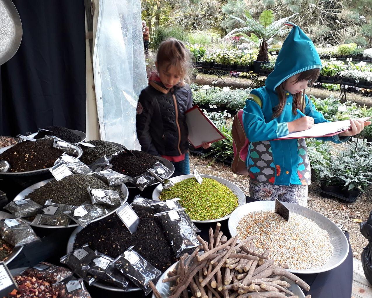 Visite de la fête des Plantes de St Jean de Beauregard par l'école de Grivery