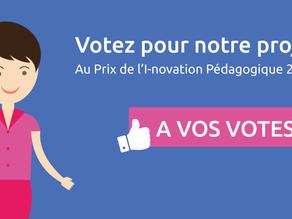 Votez au Prix de l'innovation pédagogique