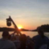 Sunset at Porto Jofre region, Pantanal.