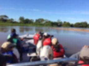 Eco travellers staying at Jaguar Camp no