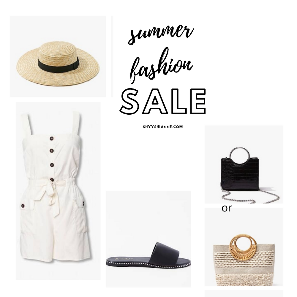 summer fashion forever 21 handbags, jumpsuits , hats , heels