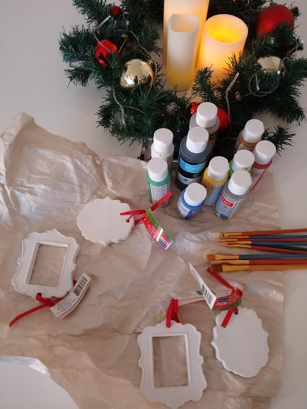 kids craft ornament decorating