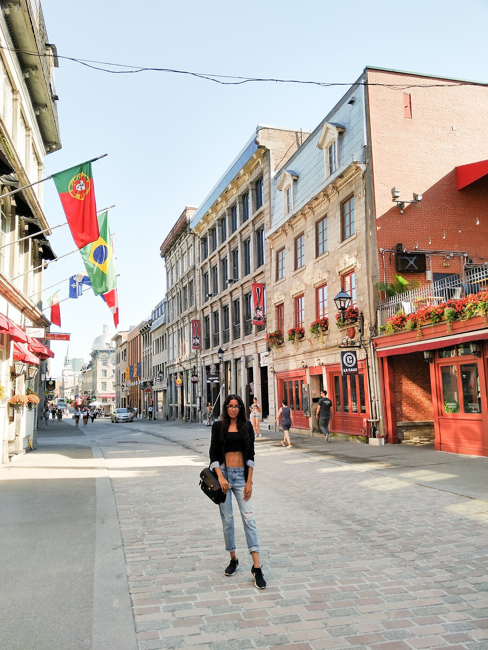 WOMAN STANDING ON THE STREETS OF MONTREAL
