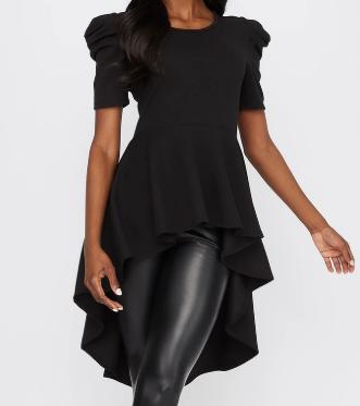 black womans blouses