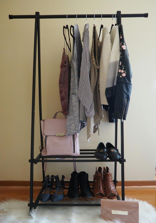 iron clothing rack