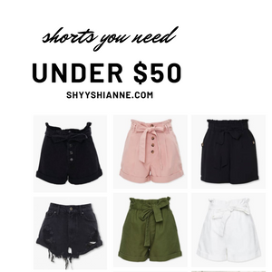 denim shorts, paper bag shorts