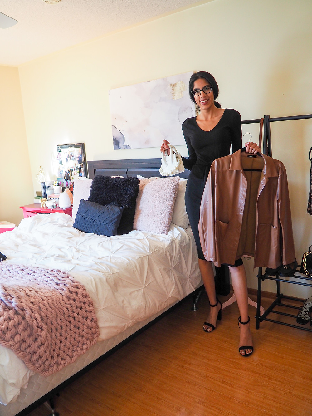 woman clearing out her closet