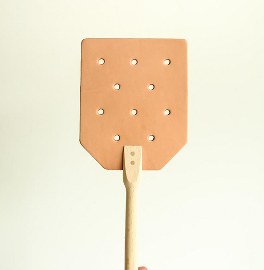 Redecker Leather and Wood Fly Swatter