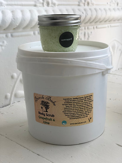 Grapefruit and Lime Body Scrub by Birch Babe Naturals