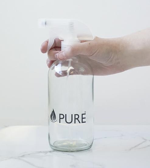 Clear Glass Spray Bottle 500 ML