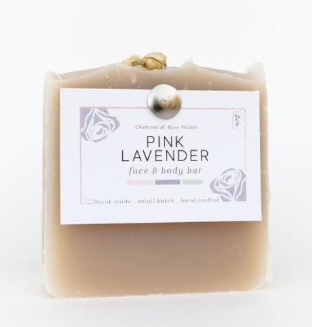 Charcoal and Rose Petals Bar Soap