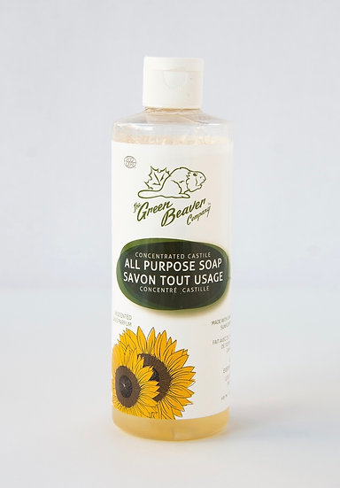 Green Beaver Castile Soap 500 ml in Mason Jar