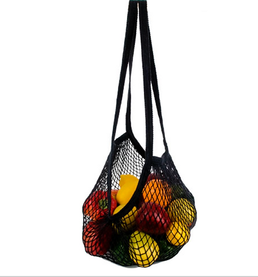 Classic Black String Bag by ECOBAGS