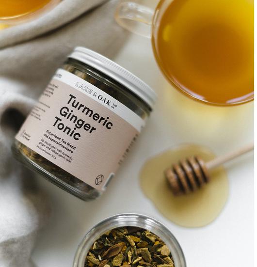 Turmeric Ginger Tonic by Lake and Oak Tea