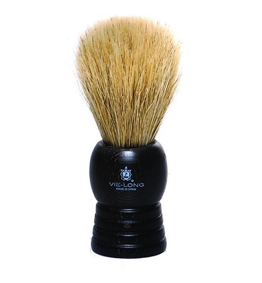 Horsehair Shave Brush Dark Wood