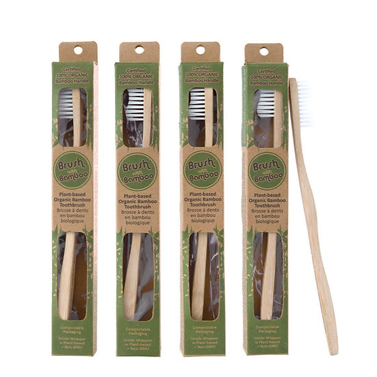 Brush with Bamboo Toothbrush- Adult