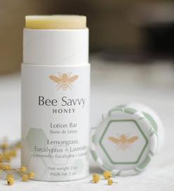 Bee Savvy Lotion Bar - Lemongrass, Eucalyptus + Lavender