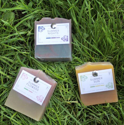 Summer Soap Bar Collection by Charcoal and Rose Petals