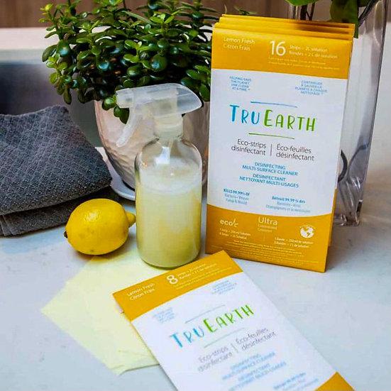 Tru Earth Eco-strips Disinfecting Multi-Surface Cleaner (Lemon Fresh) - 8 Strips