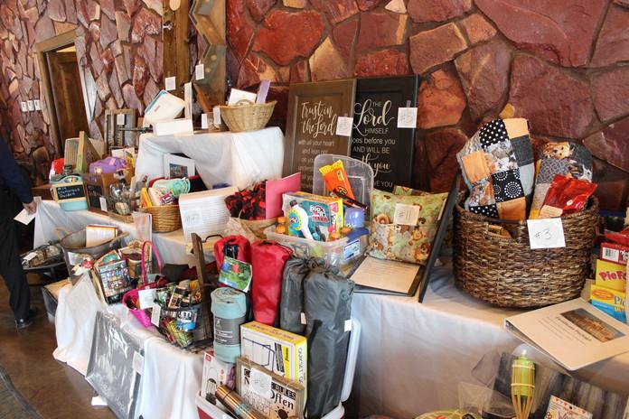 Live auction baskets