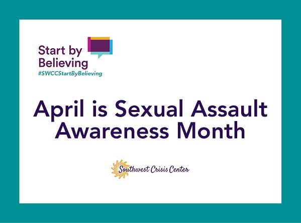 April is Sexual Assault Awareness Month Image