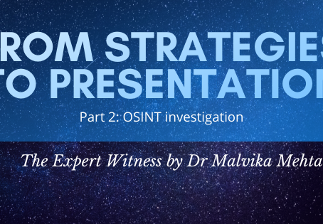Part 2: Your route from strategies to presentation: OSINT investigation.