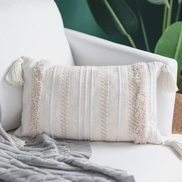 fringe lumbar pillow