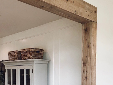 Faux Barnwood Beam Doorway | $100 DIY Projects